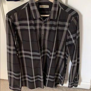 Burberry long sleeve checkered dress shirt